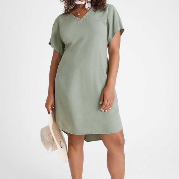 Anthropologie Cloth and Stone Liv Tie Front Mini Dress